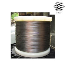 """1/32"""" 7x7 304 Stainless Steel Cable Wire Rope (300feet)"""
