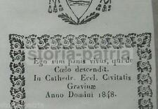 PUGLIA_GRAVINA_CANONICO PIETRO BARTILOMO_ARALDICA_STEMMA_ANTICA INCISIONE_1848