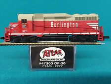 47503 Atlas N Scale GP30 CB & Q  NIB