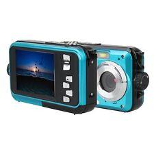 DUBLE SCREEN HD 1080P 24MP UNDERWATER WATERPROOF DIGITAL VIDEO CAMERA DV SELFIE
