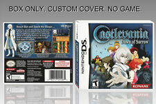 NINTENDO DS : CASTLEVANIA DOWN OF SORROW.UNOFFICIAL COVER. ORIGINAL BOX. NO GAME