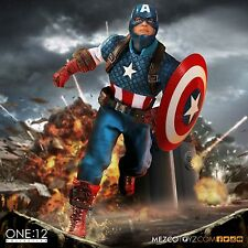 MEZCO TOYZ  ONE:12 COLLECTIVE Marvel's CAPTAIN AMERICA 6 inch figure  IN STOCK