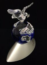 Swarovski Dove on top of the World Globe Planet Stand Crystal 2000
