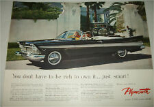 1957 Plymouth Belvedere Convertible car ad