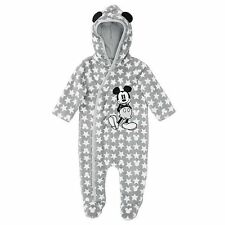 NWT Disney Baby Licensed Boys Mickey Mouse Romper Onesie Coverall Size 00 0 1 2