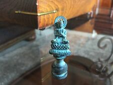 VINTAGE  Buddha Blessing Monk Lamp Finial Topper Brass