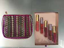 TARTE COSMETICS SEPHORA 6 PC LIP GLOSS CREME SET MAKEUP POUCH BAG CRUELTY FREE