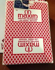 Maxim Casino Playing Cards - Excellent Condition - Rare  Bee Cambric