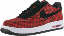 MEN'S NIKE AIR FORCE 1 ELITE TXT SIZE 9 SHOES RED/BLACK 725144 600 NEW $120