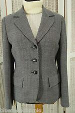 MAX MARA Wool Blazer Loose Woven Chevron Suit Jacket UK 12 / EU 38 Woolmark VGC