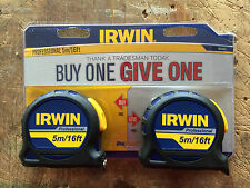 Irwin 5m x 19mm Professional Tasca Misura Twin Pack 1840437