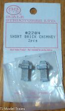 SS Ltd. HO #2284 Brick Chimney, Short (2 pcs.) Castings