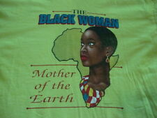VTG 90's THE BLACK WOMAN mother of the earth Africa Hip hop rap tour T Shirt L