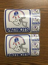 (2) Lot Of Vintage 1970's New England Patriots Mobil Gas Stickers
