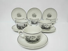 Antiguo Set de Cafe/te porcelana Ibero Tanagra China Opaca Santander Años 50