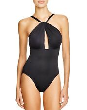 Carmen Marc Valvo High Neck One Piece Swimsuit, 10