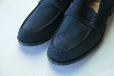 New CHURCH'S Custom Grade Sz 10F Blue Suede Loafers Mens Shoes