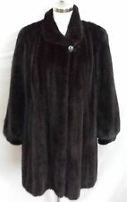 Real Fur Mahogany Mink Swing Coat in Excellent Condition Women's Size LG(14/16)