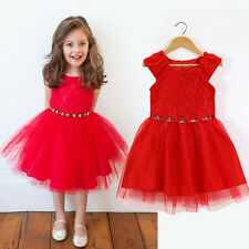 Xmas Gift ! Baby Kids Girl Princess Tulle Lace Tutu Party Evening Dress Clothes