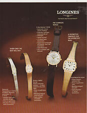 VINTAGE AD SHEET #2332 - LONGINES MENS & WOMENS WATCHES