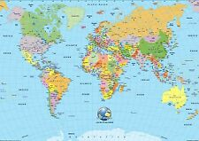 background effect A4 cake topper icing sheet World map globe