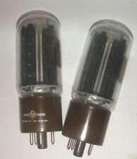 Pair GE 5R4GYA Tubes Tested & Guaranteed Brown Base  HP