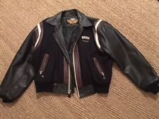 harley davidson jacket leather and wool