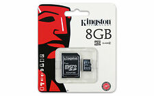 KINGSTON 8GB Micro SDHC Memory Card MicroSD with SD ADAPTER