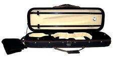 FERRIS vc632 Custodia violino nero con finiture marrone contiene 2 Fiocchi 3 Tasche Cinturino