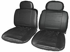 TOYOTA RAV4 (2002-2006) Black Leather Look Front 1+1 Car Seat Cover set
