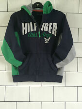 WOMEN'S NAVY BLUE TOMMY HILFIGER URBAN VINTAGE RETRO SWEATSHIRT SWEATER HOODIE