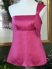 Ann Taylor LOFT Silky Pink Empire One Shoulder Top 4