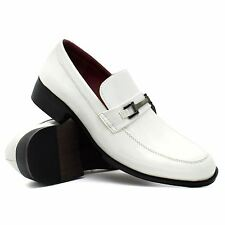 Mens New Slip On Patent Chain Trim Wedding Dress Suit Formal Shoes Size 6-11