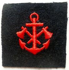 INSIGNE PATCH TISSU SPECIALITE MARINE FRANCE MARINS POMPIERS Equipage variante 1