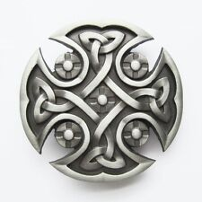 BRAND NEW CELTIC CROSS IRISH SILVER GOTHIC BELT BUCKLE