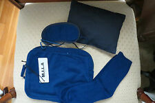 M.I.L.A. Cashmere 4-Piece Unisex Travel Set Made in USA NWT – Navy - $328