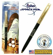 Fisher Space Pen #S294G / Gold & Black Apollo Series Pen with Shuttle Image