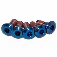 5x Suzuki Gsxr1000 K7 K8 Blue Titanium Rear Disc Rotor Bolts With Threadlock