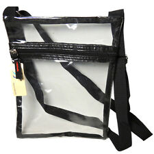 CLEAR PURSE Stadium Game Side Back See Through Vinyl Cosmetic Bag Product Travel