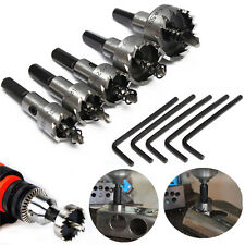 5pc/Set BI Metal M42 HSS Hole Saw Cutter Drill Bit Kit For Aluminum Iron Pipe