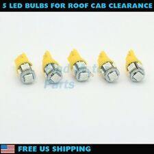 5x Amber Roof Cab Marker Clearance LED Bulbs Lights for 1999-2014 FORD F250 F350