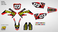 MX Graphics Stickers Kit Decals HONDA CRF250R 2006-2009 CRF 250 CRF250 R