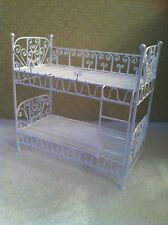 Dolls House 1:12th Scale White Wire Bunk Beds