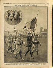Drapeau Français Aviation Pilote Lieutenant Guynemer Croix de Guerre  1916 WWI