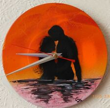 SEXY WALL CLOCKS..birthdays..MAN CAVE...SURFERS...GIFTS...7IN RECYCLED RECORD.