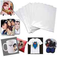 10pcs A4 Iron-On Inkjet Print Heat Transfer Paper For Fabric T-Shirt DIY Craft