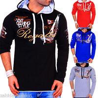 ZAHIDA Herren Kapuzen Pulli Pullover Sweatshirt Hoodie Longshirt T-Shirt NEU