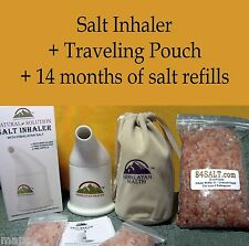 Himalayan Salt Inhaler 14mo refill + Bag Asthma COPD Allergies Sinusitis Snoring