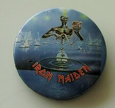 IRON MAIDEN VINTAGE 32mm METAL PIN BADGE FROM 1988 MADE IN ENGLAND RETRO OLD