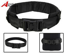 Tactical Military Airsoft Hunting 1000D Nylon Combat Waist Padded Duty Belt BK